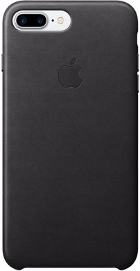 Apple iPhone 7 Plus Leather Case Zwart