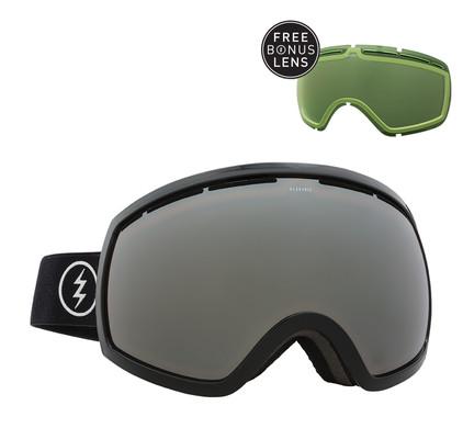 Electric EG2 Gloss Black + Bronze Silver Chrome & Light Green Lenzen