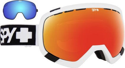 SPY Platoon Matte White + Red Spectra & Blue Contact Lenzen