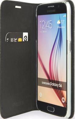 Valenta Booklet Classic Style Croco Samsung Galaxy S6 Zwart