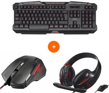 Trust GXT Gaming Headset, Muis & Toetsenbord