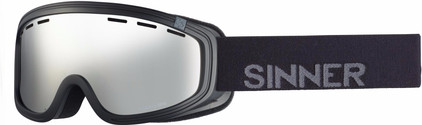 Sinner Visor III OTG Black + Orange Mirror Lens