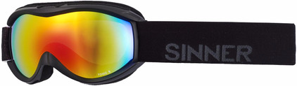 Sinner Toxic S Black + Double Red Revo Lens
