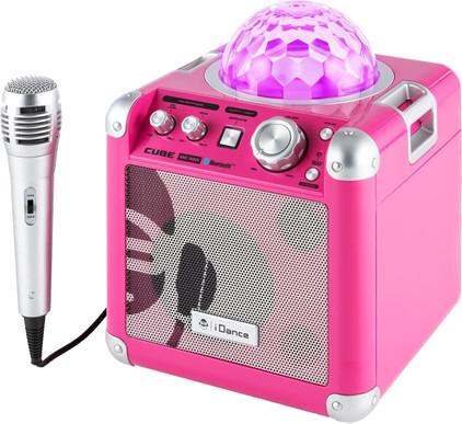 iDance Audio Sing Cube BC100 Roze