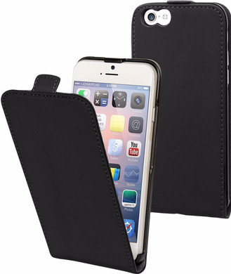Muvit Folio Apple iPhone 6/6s Flip Case Zwart