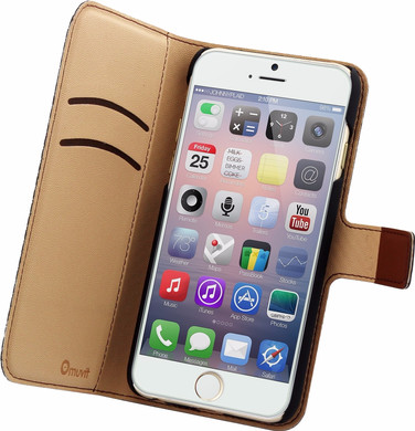Muvit Wallet Apple iPhone 6/6s Book Case Bruin