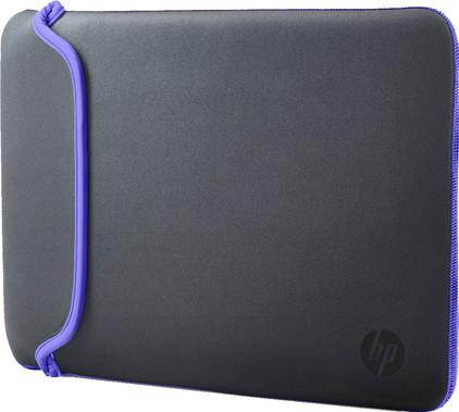 """HP 14"""" Reversible Sleeve Grijs/Paars"""