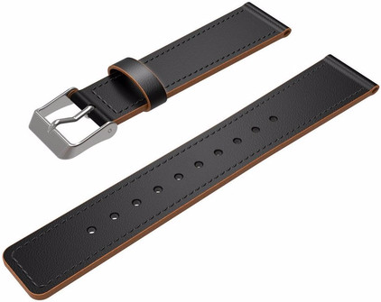 Just in Case Lederen Polsband Fitbit Charge 2 Zwart