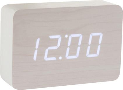 Gingko Brick Click Clock Wit