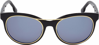 Diesel DL0213 01X Black Gold / Blue Mirror