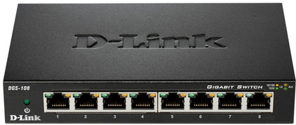 D-Link DGS-108 8-Poorts Gigabit Switch