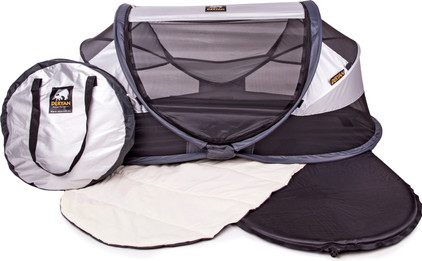 Deryan Travel Cot Baby Luxe Silver