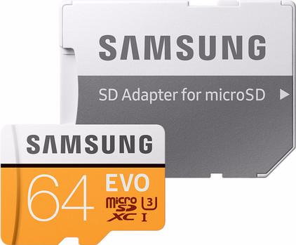 Samsung microSDXC EVO 64 GB 100MB/S CL 10 + SD adapter