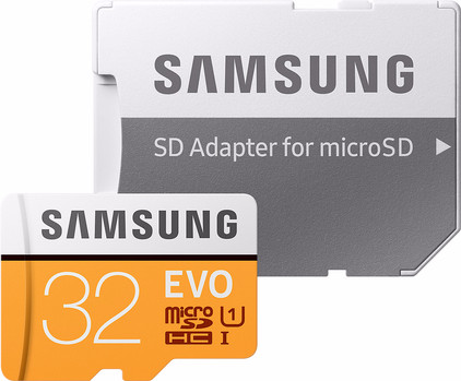 Samsung microSDHC EVO 32 GB 95MB/S CL 10 + SD adapter