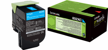 Lexmark 802XC Cyaan (80C2XC0)