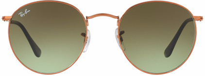 Ray-Ban Round RB3447 Shiny Bronze / Green Gradient Brown