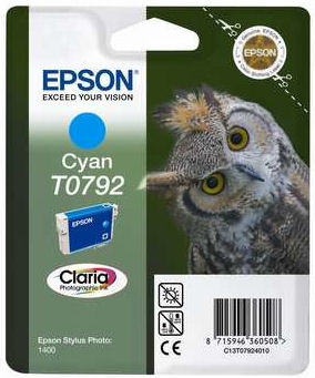 Epson T0792 Ink Cartridge Cyan (blauw) C13T07924010