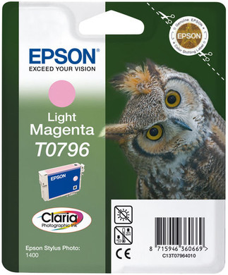 Epson T0796 Ink Cartridge Light Magenta (licht rood) C13T07964010