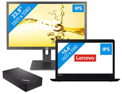 Dockingpakket 1 scherm -Lenovo ThinkPad E570 - i5-8gb-256ssd