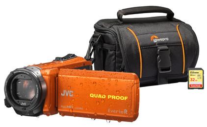 Starterskit - JVC GZ-R435DEU + Geheugen + Tas