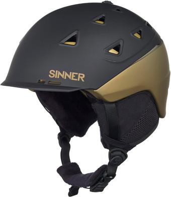 Sinner Stoneham Matte Black/Gold (61 - 62 cm)