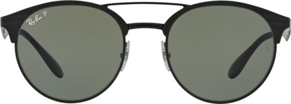 Ray-Ban RB3545 Shiny Black Top Matte Black / Polarized Green