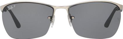 Ray-Ban RB3550 Matte Silver / Polarized Grey Lens