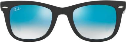 Ray-Ban Folding Wayfarer RB4105 Matte Black / Mirror Gradient Blue