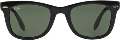 Ray-Ban Folding Wayfarer RB4105 Black / Crystal Green Lens
