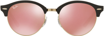 Ray-Ban Clubround RB4246 Top Wrinkled Black