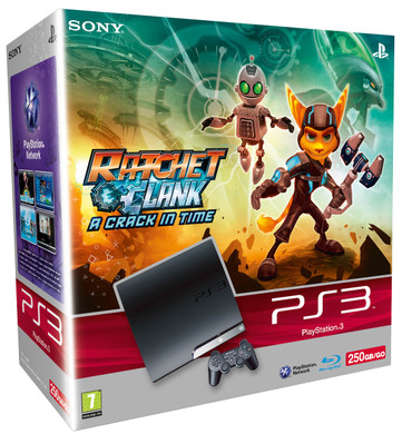 Ps3 Slim 250 Gb Ratchet Clank A Crack In Time