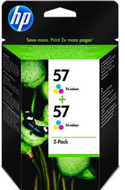 HP 57 Double Combo Pack 3-Kleuren (C9503AE)