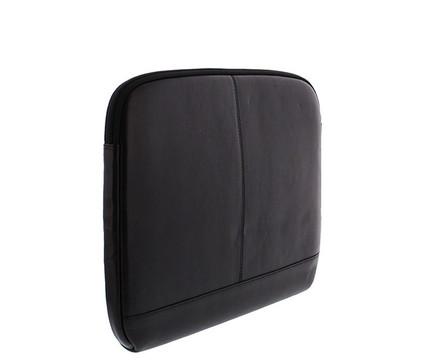 Plevier Lederen Laptop Sleeve 14'' Zwart