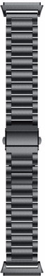 Just in Case Fitbit Ionic Metalen Horlogeband Zwart