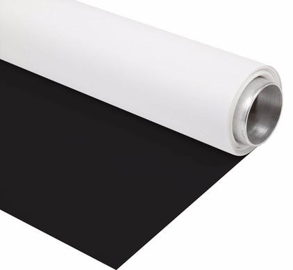 Bresser Vinyl Zwart/Wit Mat 2x4m Rol Achtergrond
