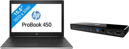 HP ProBook 450 G5 i5-8gb-256ssd + HP 3005pr USB 3 dock