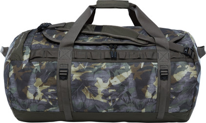 The North Face Base Camp Duffel L Green Tropical Camo/Taupe