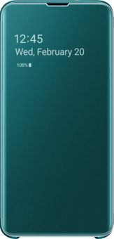 Samsung Galaxy S10e Clear View Cover Book Case Green