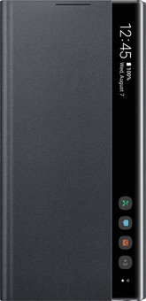 Samsung Galaxy Note 10 Clear View Cover Book Case Black