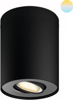 Philips Hue Pillar Mounted Spot White Ambiance 1 Light Black