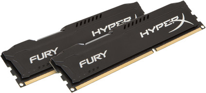 Kingston HyperX FURY 16GB DIMM DDR3-1600 Black 2x 8GB