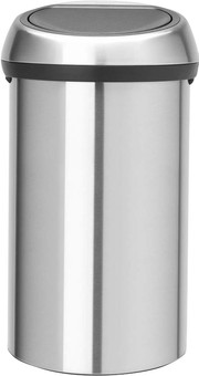Brabantia Touch Bin 60 Liters Matte Steel Fingerprint Proof
