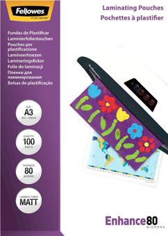 Fellowes Laminator covers Enhance Mat 80 mic A3 (100 Pieces)