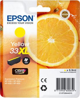 Epson 33XL Cartridge Yellow