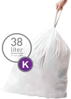 Simplehuman Waste bags Code K - 38 Liter (60 pieces)