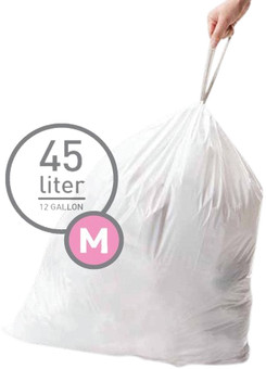 Simplehuman Waste bags Code M - 45 Liter (60 pieces)