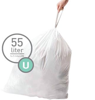Simplehuman Waste bags Code U - 55 Liter (60 pieces)