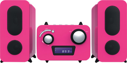 Bigben Microset Radio/CD Player Pink