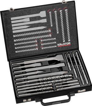 Kreator 17-piece SDS-Plus drill and chisel set