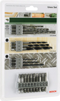 Bosch 19-piece SDS-Quick Uneo Accessory Set